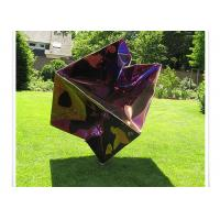 Buy cheap Modern Stainless Steel Square Titanium Painted Metal Sculpture from wholesalers
