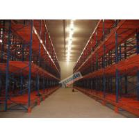Buy cheap Supply Chain Push Back Pallet Racking Steel Storage Shelving 2 Uprights Frame product