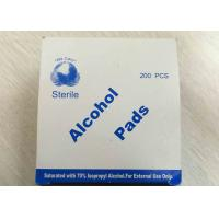 Buy cheap Medical Use Sterile Alcohol Pads Saturated With 70% Lsopropyl Alcohol product
