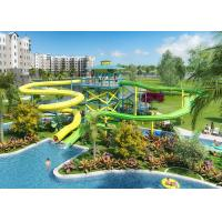 Different Color Fiberglass Water Slide 15m Platform Height For Water Park