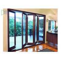 Buy cheap Fire Proof Aluminium Bifold Patio Doors , Residential Folding Doors With Louver Inside product