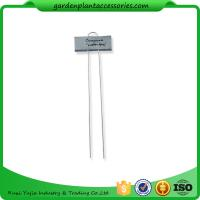 Buy cheap Metal Flower Garden Plant Markers /  Labels Silver Color Zinc Coated product