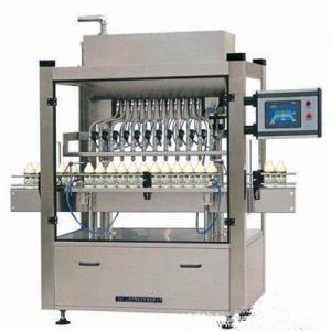 Automatic Plastic Bottle Cooking Oil Filling Machine 3000 BPH Low Vacuum Gravity