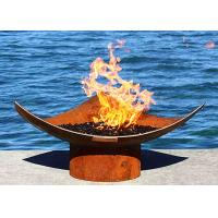 Buy cheap Corten Steel Modern Fire Bowls Outdoor , Large Metal Fire Pit 50cm Height product