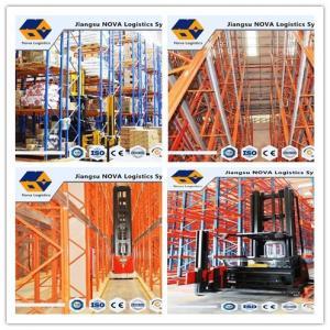 High Density Galvanized Heavy Duty Steel Storage Racks With Customized Beam Size