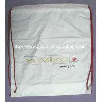 Buy cheap White Lightweight Durable Drawstring Storage Bags With Two PP Drawstring product