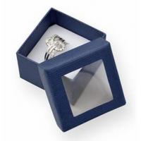 Buy cheap Luxury Small Cardboard Gift Boxes Gift Ring Packaging 50x50x32mm With Clear Window product