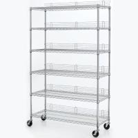 6 Layers 18 X 24 Wire Shelving Heavy Duty Movable Wire Shelving Units With Casters