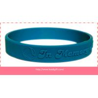 Buy cheap embossed silicone wristband bracelet without color filling from wholesalers