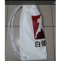 Buy cheap White Double Plastic Drawstring Backpack For Riding , Playing , Swimming product