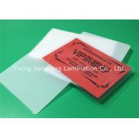 Buy cheap Round Corner Hot Lamination Film , Moisture Proof Laminating Sleeves Pouches product