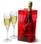 Buy cheap Shiny Transaprent Wine Bottle Cooler Bag Cooling Ice Bag With Long Lifetime product