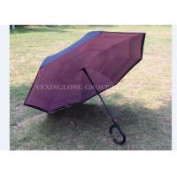 Buy cheap Manual Open Reverse Opening Umbrella , Double Layer Upside Down Umbrella product
