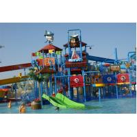 Pirate Style Water Playground Equipments With fiberglass water slide and water toys
