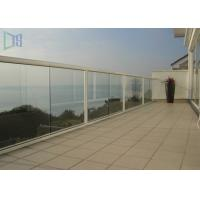Customized Outdoor Stair Handrail Corrosion Resistance Aluminum Glass Railing