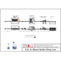 0.5L-5L Anti Corrosive Diving Bleach Bottle Filling Line With Capping Machine Labeling Machine For Bleach Bottle Packing
