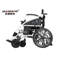 Buy cheap White Black Color Electric Folding Wheelchair 8- 12 Hours Charing Time product
