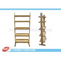 Buy cheap Stores Custom Color MDF Wooden Display Racks With Shelves / Melamine Finished from wholesalers