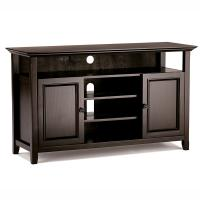 Bedroom Wooden Television Stands American Country Style With Multi Shelves