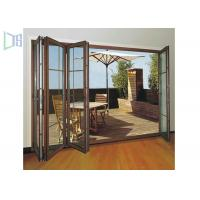 Buy cheap Clean Contemporary Aluminium Folding Exterior Door With Double Tempered Glass product