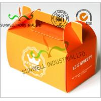 Buy cheap Offset Printing Corrugated Cardboard Food Food Serving Boxes Art Paper Top E Flute product