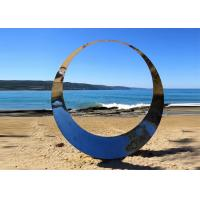 Buy cheap Welding Technique Stainless Steel Sculpture Circle Design For Lawn 150cm Dia from wholesalers