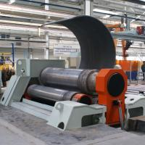CNC Hydraulic Plate Bending Roller Machine , W12 - 12×3000 4 Roller Plate Rolling Machine