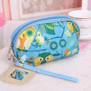 Buy cheap Medium Makeup Bag/ Custom Cosmetic Bags With Zipper Flower Animal Printing product