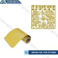 Buy cheap Soft Annealed C26000 C27000 Rolled Brass Foil Roll For Heating Foils / Lamination product