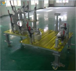 1300kg Inspection Welding Jig Fixture With Oxidation / Paint Surface Treatment