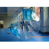 Buy cheap 0.7mm TPU 1.5m Inflatable bumper ball Blue Striped  with  CE / EN14960 / EN71 / SGS from wholesalers