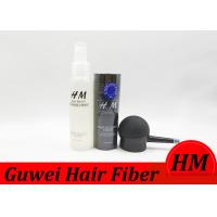 Buy cheap 12 / 28g Cotton Hair Building Fibers For Women And Men , Black Hair Loss Powder Concealer product