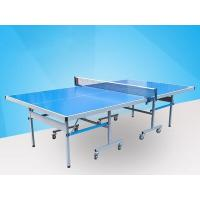 Easy Install Blue Ping Pong Table , Aluminum Ping Pong Table Movable With Logo