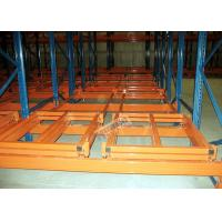 Buy cheap Industrial Push Back Rack Galvanised Pallet Racking Single Pallet Per Level product
