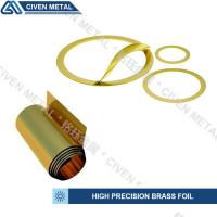 Buy cheap Customized Bright Golden Yellow Precision Brass Foil Roll For Laminated Shims product
