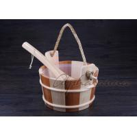 Buy cheap Bottomless Sauna Bucket And Ladle Set Including Plastic Liner For Dry Sauna Accessories product