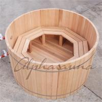 Buy cheap 100% Red cedar Wooden Hot Tubs / traditional sauna kit , No electricity product