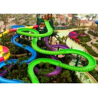 Water Park Spiral Water Slide Customized Colors For Water Sport Games