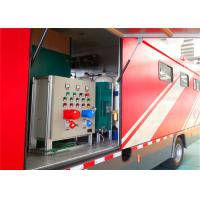 8000x2200x3400mm Dimension Fire Brigade Truck , Rated Output Power 50KW Fire Equipment Truck
