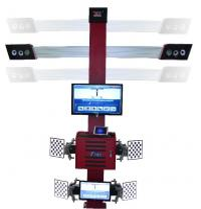 Truck Tire Two Monitors Tire Alignment Machine , 3D Garage Equipment Wheel Alignment