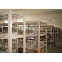 Quality Universal Q195 Slotted Angle Steel Racks Long Span Shelf 200 Kg Per Level for sale