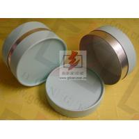 Buy cheap Small Composite Paper Cans Packaging UV Coating with Ribbon product