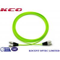 Buy cheap FC-FC OM5 Optical Fiber Patch Cable Jumper Cord 100G Multimode 50/125 Lime Green from wholesalers