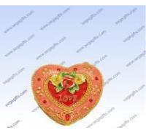 Pewter Heart shape jewelry box