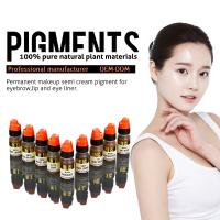 Buy cheap Multi Color Organic 8ml Semi Permanent Makeup Pigments , Eyebrow Tattoo Ink product