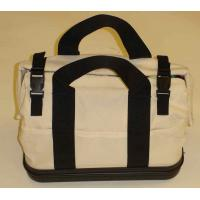 COTTON CANVAS EMBRODIERY APPLIQUE WASHED BAG