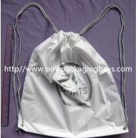 Buy cheap Personalized PP Promotion  Packaging / White Plastic Drawstring Backpack product