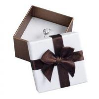 Buy cheap Decorative Gift Paper Ring Box , Custom Printed Jewelry Boxes White Foam Inside product