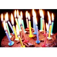 Buy cheap Vertical Core Spiral Birthday Candles , Custom Birthday Cake Candles No Deformation product