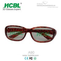 Cool Lady Linear Polarized 3D TV Glasses / Eyewear With PC Frame